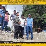 Kepala Dinas BMBK Meninjau Lokasi Pembangunan Turap Di Ruas Dolok Sanggul – Pakkat