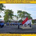 Dinas Bina Marga Dan Bina Konstruksi Provsu Melaksanakan Upacara Peringatan Hari Pahlawan