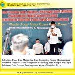 Sekretaris Dinas Bina Marga Dan Bina Konstruksi Provsu Mendampingi Gubernur Sumatera Utara Menghadiri Launching Bank Sampah Sekaligus Peletakan Batu Pertama Pembangunan Menara Masjid Ar-Rivai