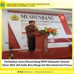 Pembukaan Acara Musrembang RKPD Kabupaten Samosir Tahun 2022, Kamis 25 Maret 2021
