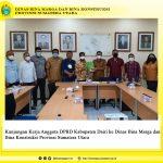 Kunjungan Kerja Anggota DPRD Kab. Dairi ke Dinas Bina Marga dan Bina Konstruksi Provsu