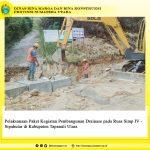 Pelaksanaan Paket Kegiatan Pembangunan Drainase pada Ruas Simp IV – Sipahutar di Kabupaten Tapanuli Utara